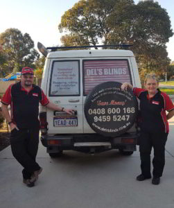 Owners of Del's Blinds Perth WA